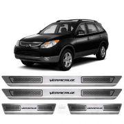 Soleira De Aço Inox Escovado Anti-risco Hyundai Vera Cruz 15