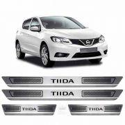 Soleira De Aço Inox Escovado Anti-risco Nissan Tiida