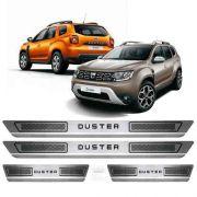 Soleira De Aço Inox Escovado Anti-risco Renault Duster