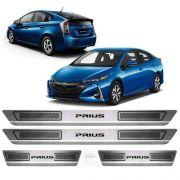 Soleira De Aço Inox Escovado Anti-risco Toyota Prius
