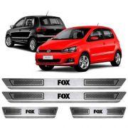 Soleira De Aço Inox Escovado Anti-risco Volkswagen Fox