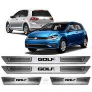 Soleira De Aço Inox Escovado Anti-risco Volkswagen Novo Golf