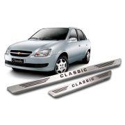 Soleira De Aço Inox  Escovado Chevrolet Corsa Classic