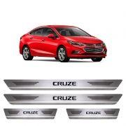Soleira De Aço Inox  Escovado Chevrolet Cruze
