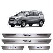 Soleira De Aço Inox  Escovado Chevrolet Spin