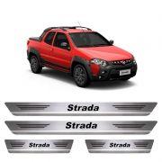 Soleira De Aço Inox  Escovado Fiat Strada