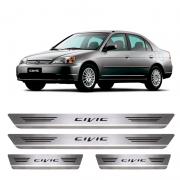 Soleira De Aço Inox  Escovado Honda Civic 2000 a 2006