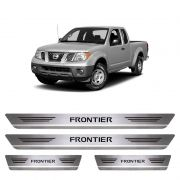 Soleira De Aço Inox  Escovado Nissan Frontier
