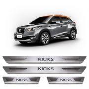 Soleira De Aço Inox  Escovado Nissan Kicks