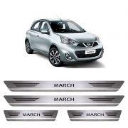 Soleira De Aço Inox  Escovado Nissan March