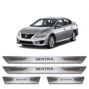 Soleira De Aço Inox  Escovado Nissan Sentra