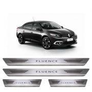 Soleira De Aço Inox  Escovado Renault Fluence