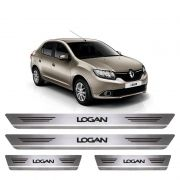 Soleira De Aço Inox  Escovado Renault Logan