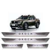 Soleira De Aço Inox  Escovado Renault Oroch