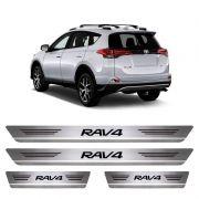 Soleira De Aço Inox Escovado Toyota Rav4