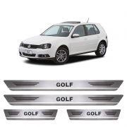 Soleira De Aço Inox Escovado Volkswagen Golf