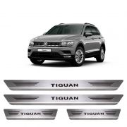 Soleira De Aço Inox  Escovado Volkswagen Tiguan