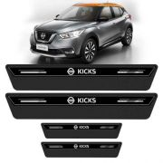 Soleira De Porta Platinum Nissan Kicks 2016 a 2018 Preto