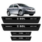 Soleira Protetor Porta Platinum Gol G3 G4 G5 G6 G7 - Preto