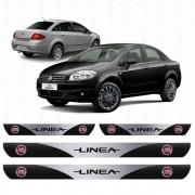 Soleira Resinada Personalizada para Fiat Linea