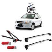 Suporte Para Bicicleta + Rack De Teto New Wave Chevrolet Celta