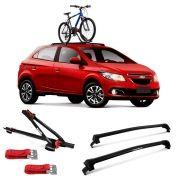 Suporte Para Bicicleta + Rack De Teto New Wave Chevrolet Onix