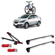 Suporte Para Bicicleta + Rack De Teto New Wave Chevrolet Prisma