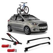 Suporte Para Bicicleta + Rack De Teto New Wave Ford Ká
