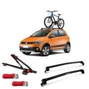 Suporte Para Bicicleta + Rack De Teto New Wave Volkswagen Fox