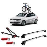 Suporte Para Bicicleta + Rack De Teto New Wave Volkswagen Gol g5