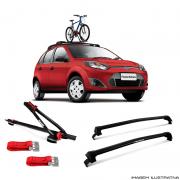 Suporte Para Bicicleta + Rack De Teto Wave Preto Ford Fiesta rocam e sedan 2003 a 2016