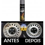 Tinta Spray Prata Alumínio para Roda de Carro Alta Temperatura
