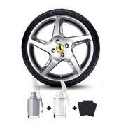 Tinta Tira Risco Para Reformas de rodas de Liga Prata Alumínio