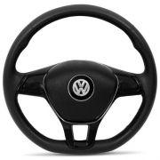 Volante Esportivo Volkswagen Golf TSI, Base Reta, Preto Com Prata para Gol, Voyage, Fox, Polo, Saveiro e outros