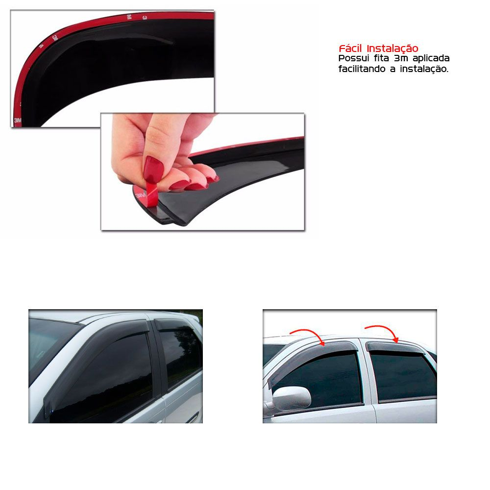Calha de Chuva Chevrolet Gm Vectra 2006 a 2012 4 portas