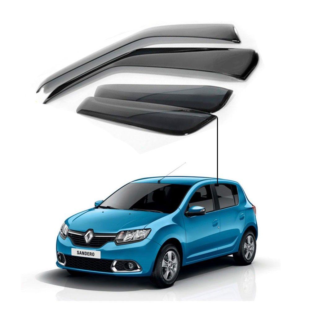 Calha de Chuva Renault Novo Sandero 2014 a 2018 4 Portas