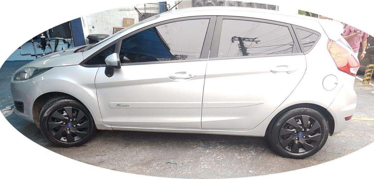 Calota 4pçs Preta Fosca Ford Ka Fiesta Focus Aro 15 G195pfj