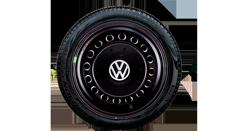 Jogo Calota Aro 15 Centro de Roda Amarok para Volkswagen Fox 2004 a 2019