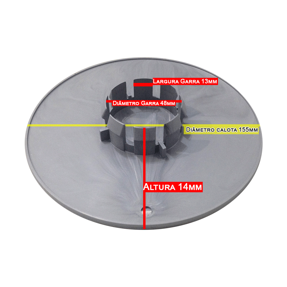 Calota Centro Miolo de Roda Volkswagen Orbital