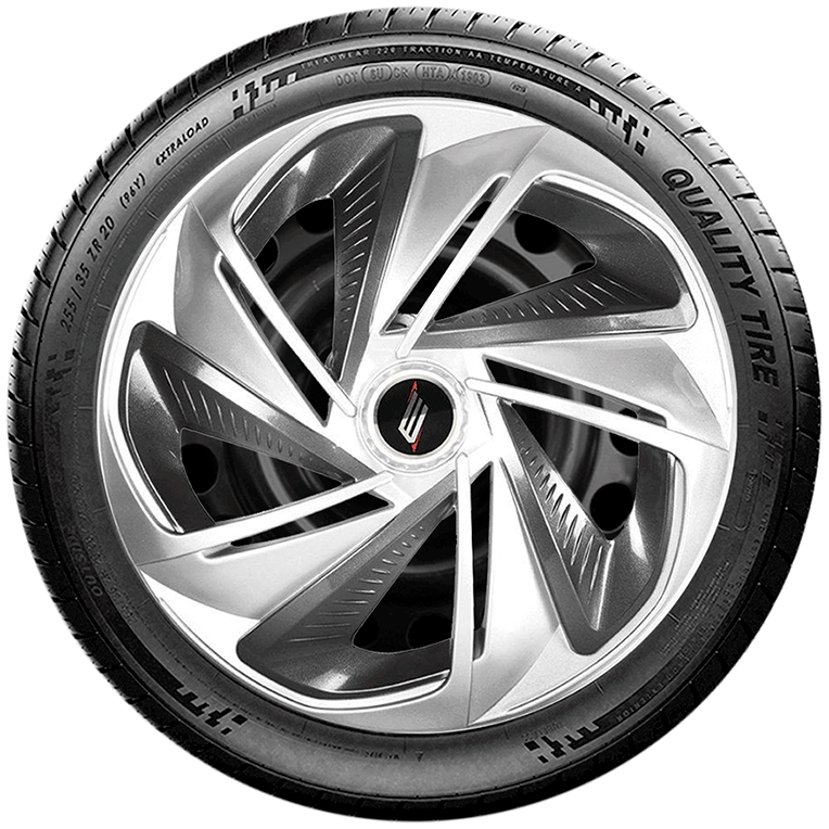 Calota aro 13 Elitte para Celta Gol Palio Uno. Mod. Universal Prata Grafite linha Nitro X  -  #E3901