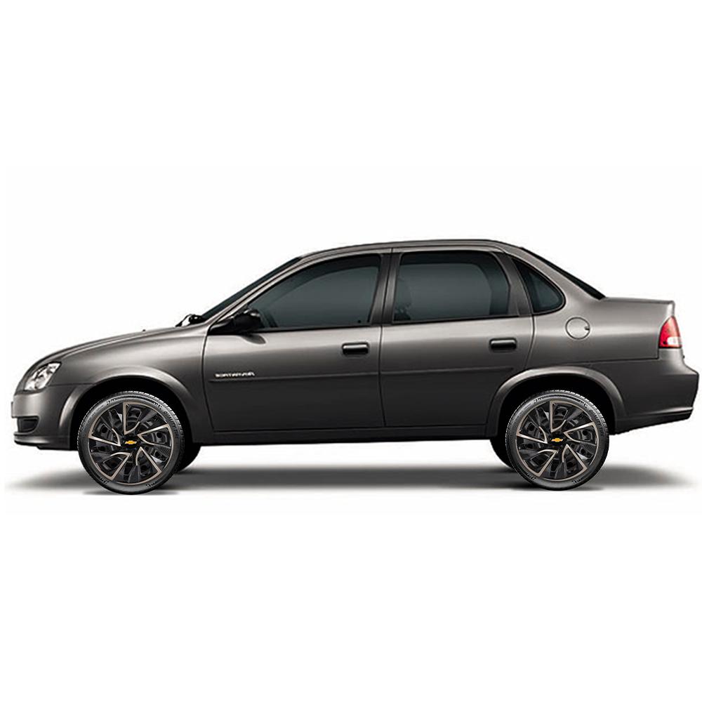 Calota aro 13 Elitte para Celta Gol Palio Uno. Mod. Universal Preta Dourada linha DS4  -  #E3019