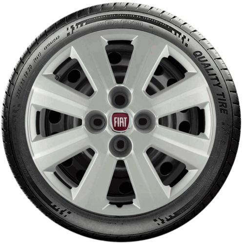 Calota Esportiva Prata Aro 15 Fiat Idea Punto Linea G030u