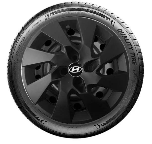 Calota Hb20 Hb20s Preto Fosco Aro 14 Hyundai G133pf