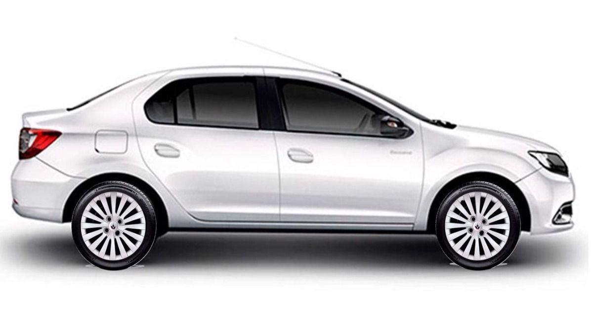 Calota Jogo 4pçs Clio Sandero Logan Aro 14 Renault G117j
