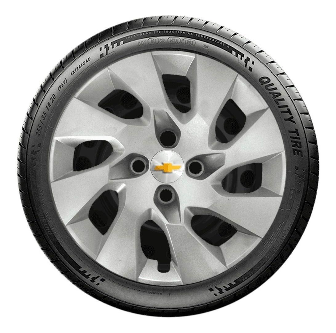Calota Jogo 4pçs Onix Corsa Prisma Aro 14 Chevrolet G133j