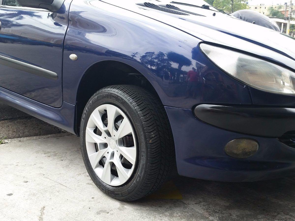 Calota Jogo 4pçs Peugeot 206 207 208  Aro 14 Prata G410j