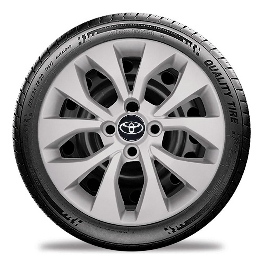 Calota Jogo 4pçs Toyota Etios Hatch Sedan g374j Cor: Prata