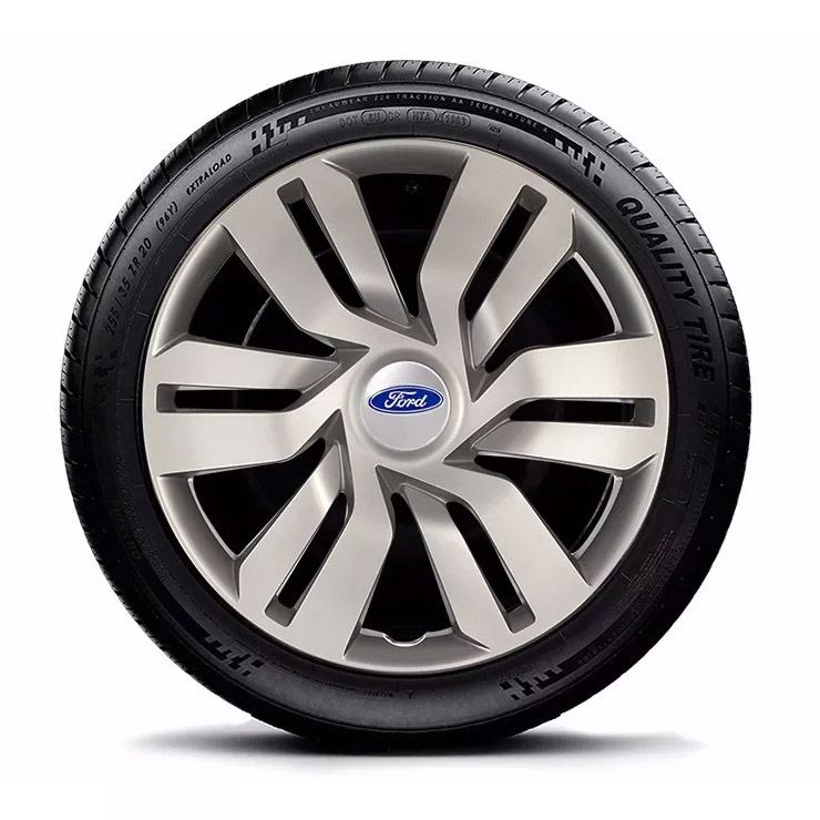 Calota New Fiesta Focus Aro 15 Prata Ford G120