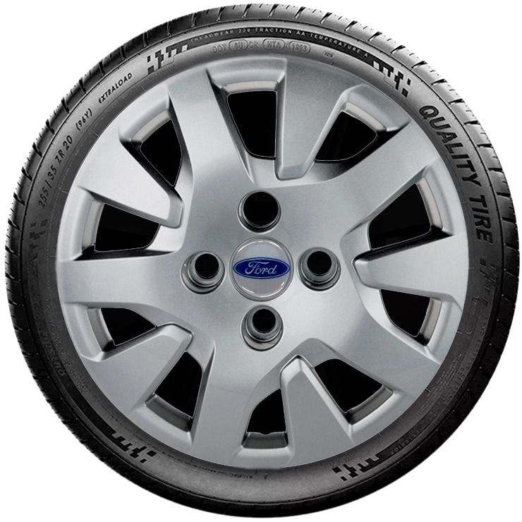 Calota Prata Ford Novo Ká 2019 Aro 14 G343pta