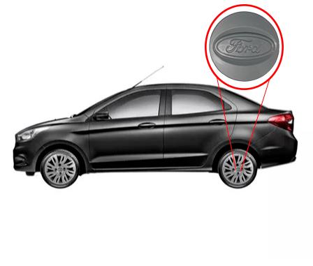 Calota Prata Ford Novo Ká Sedan 2019 Aro 14  G344PTA